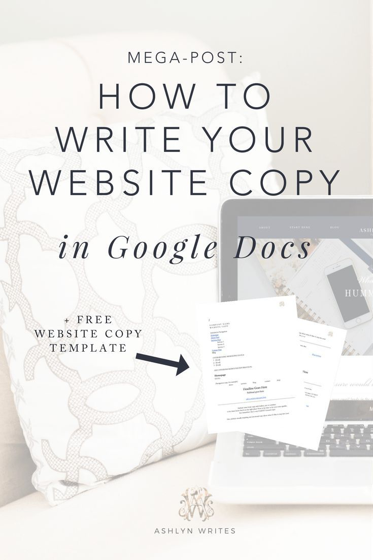 How to write your website copy with google docstutorial for how to write your website copy with google docstutorial for getting started with copywriting baditri Gallery