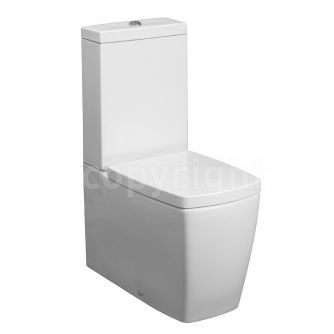Bauhaus Touch Close Coupled Toilet Cistern with Soft Close Seat