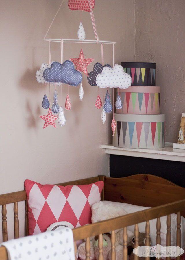 Kinderzimmer deko nähen  Kinderzimmerdeko - selbstgemachtes Babymobile | Schritt für schritt ...