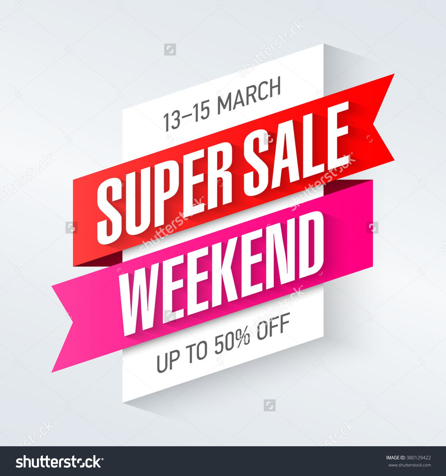 Weekend Sale Banner: Super Sale Weekend Special Offer Poster, Banner Background