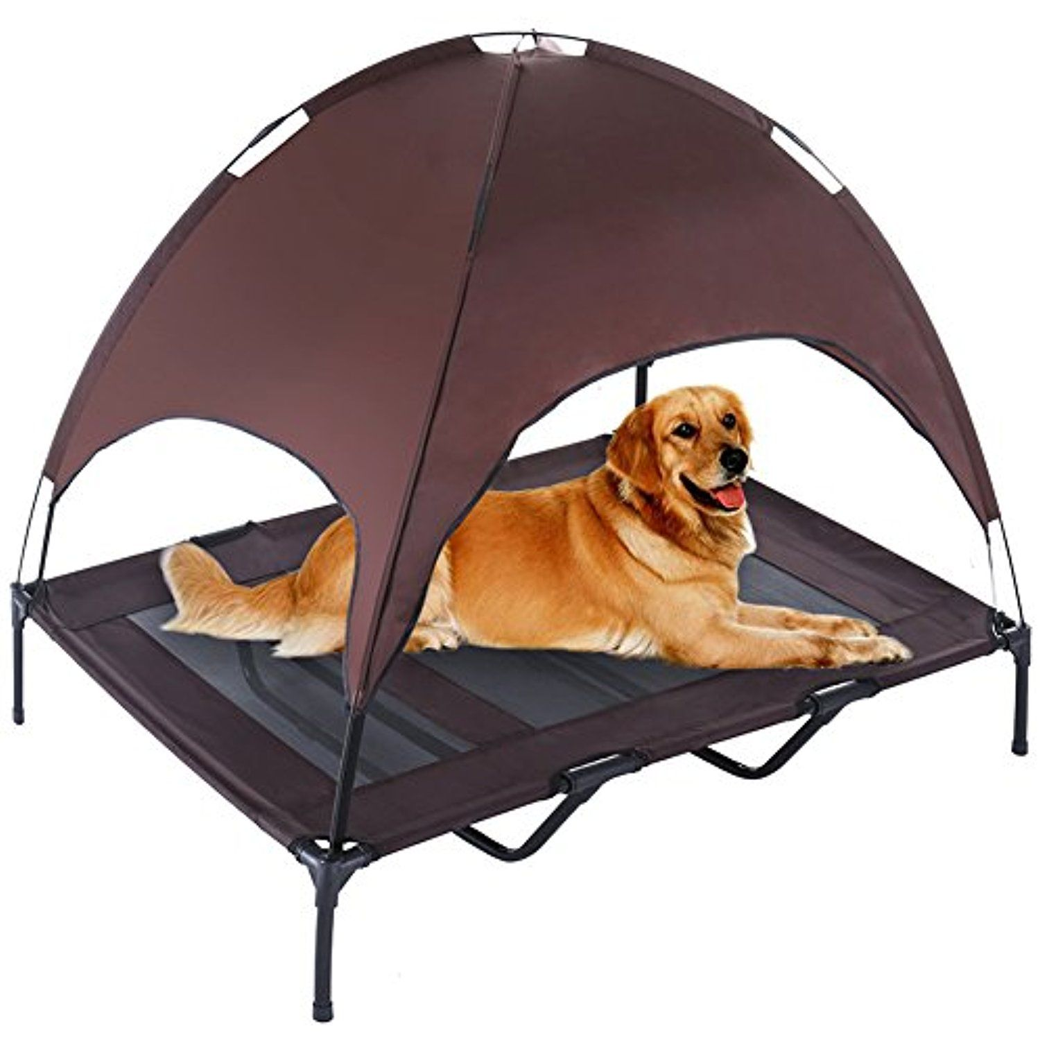 Xlarge Cooling Dog Cot With Canopy Superjare Elevated Pet Bed