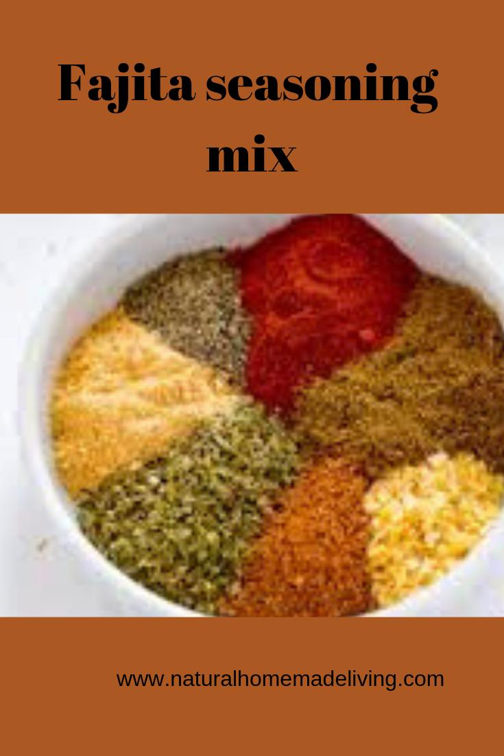 Fajita seasoning mix from scratch