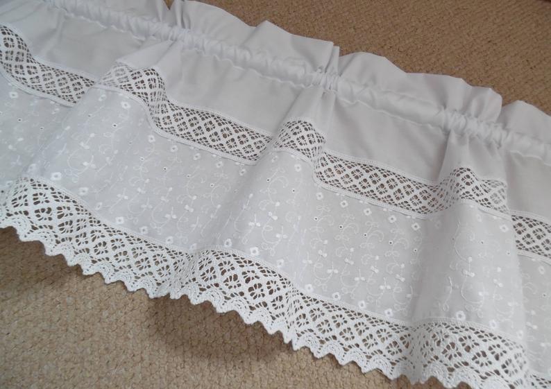 Volant Curtain Curtain Curtain Shabby Chicnostalgia Disc Curtain Embroidery Vintage White Lace Shabby Chic Curtains Vintage Curtains Shabby Chic