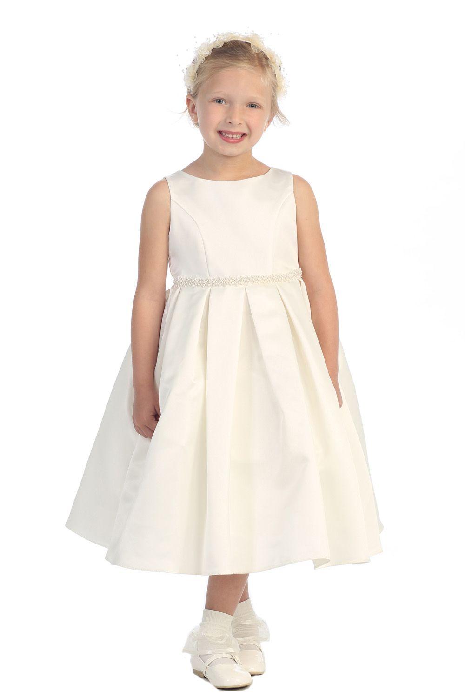 58bb6b12bd4 Classic+Pearl+Trimmed+Flower+Girl+Dress +K235I2+ 59.95+on+www.GirlsDressLine.Com
