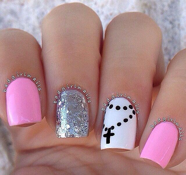 Simple nail embellishment | Nails & Hair & Make up | Pinterest ...