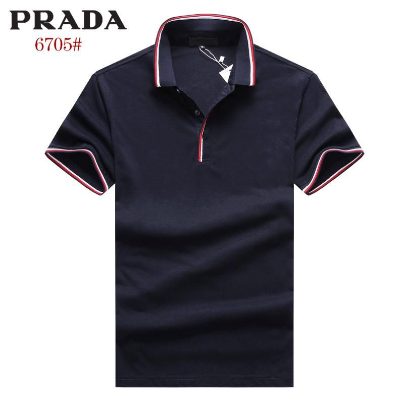 Prada polos t-shirts, short sleeve cotton tops, brand shop