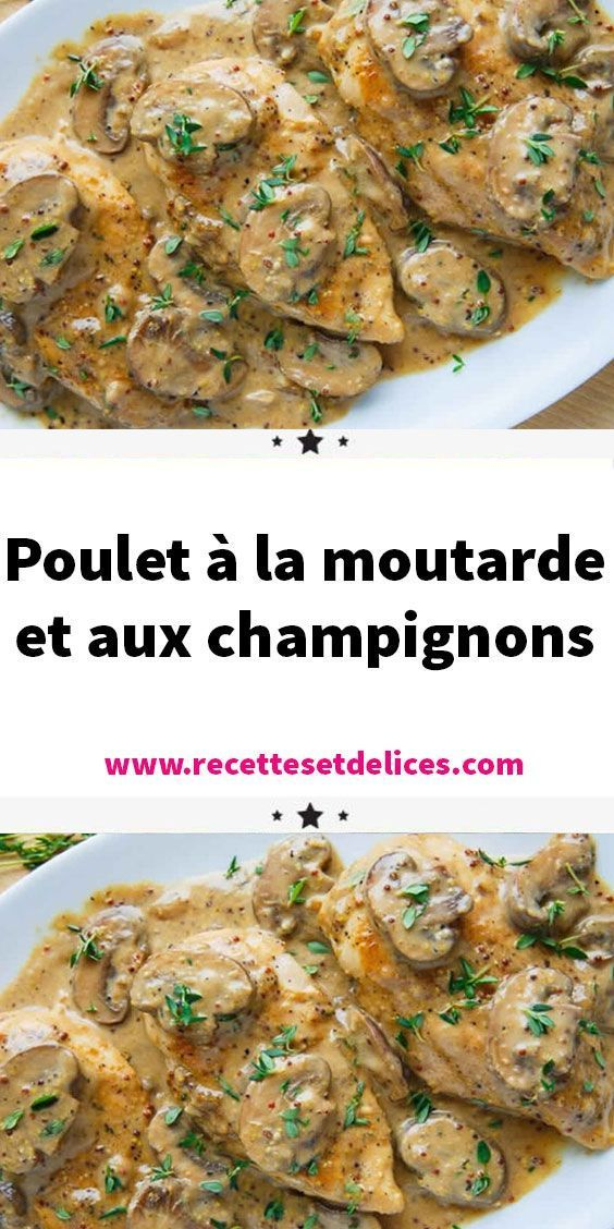 Photo of Chicken with mustard and mushrooms # main dish Chicken …-P…