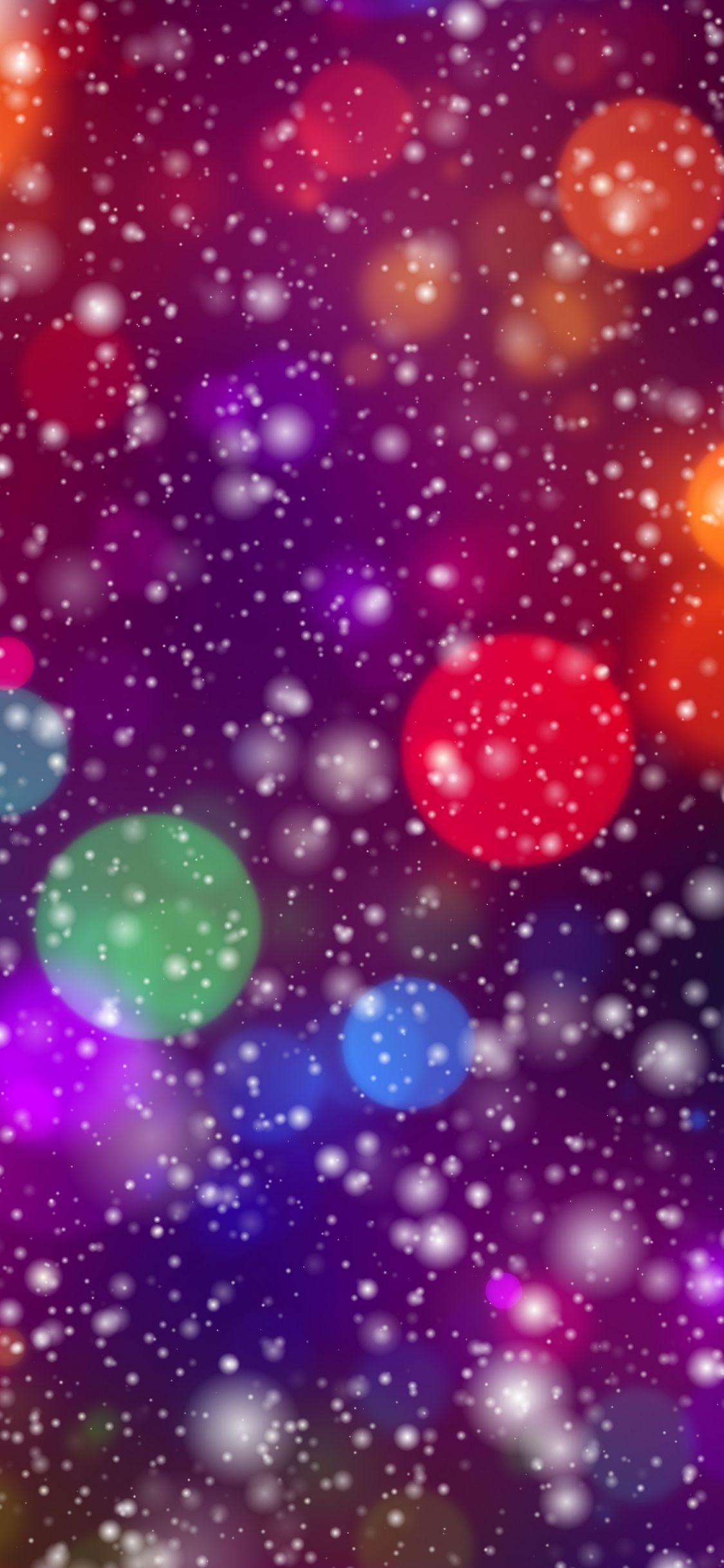 Bokeh Glare Glitter Colorful Digital Art 1125x2436 Wallpaper Winter Wallpaper Wallpaper Art Wallpaper