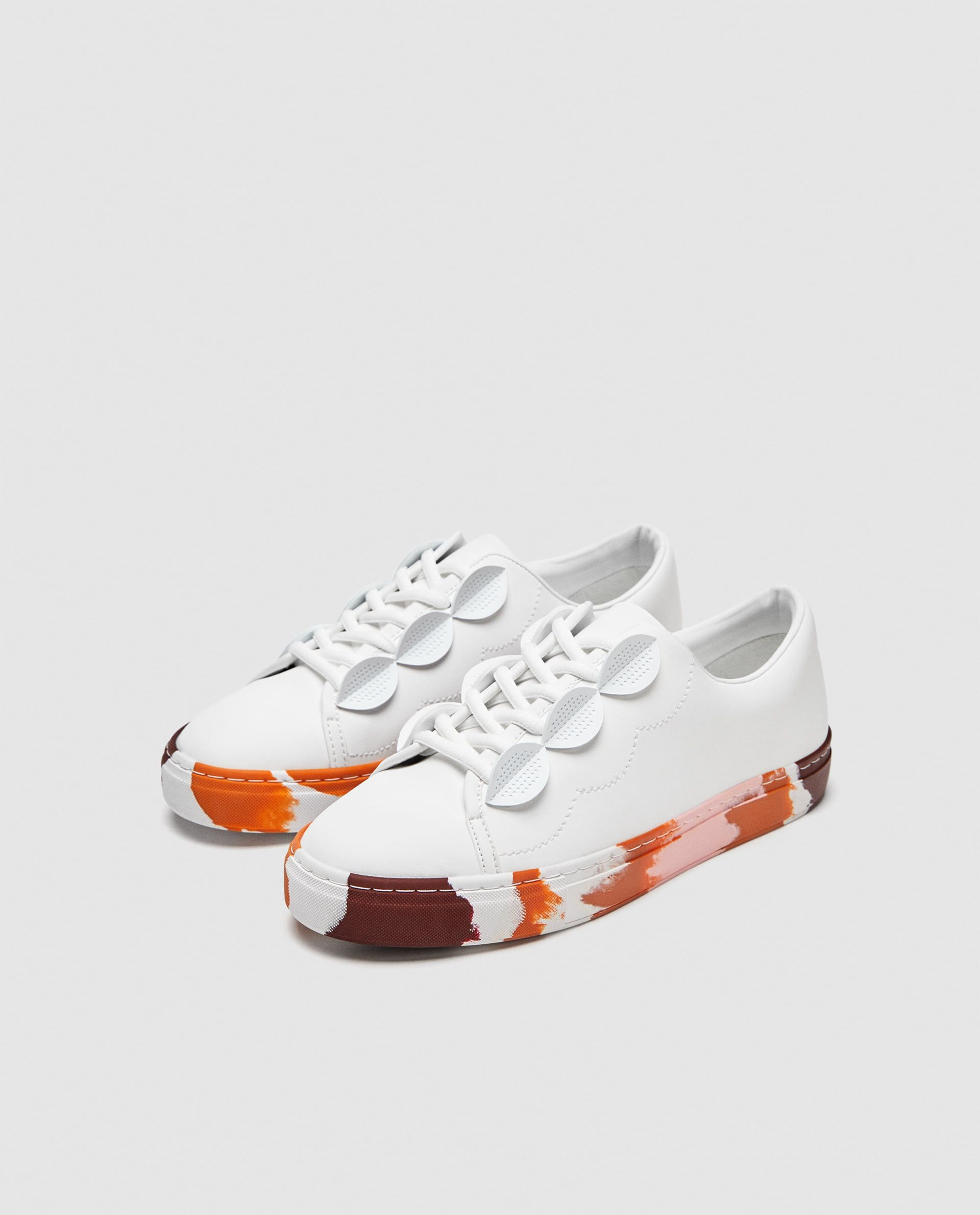 Image 5 of COLOURED SOLE SNEAKERS from Zara  08c396c32