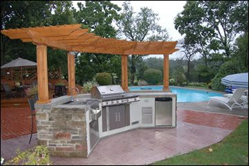 Outdoor kitchen available @ The Pool Place