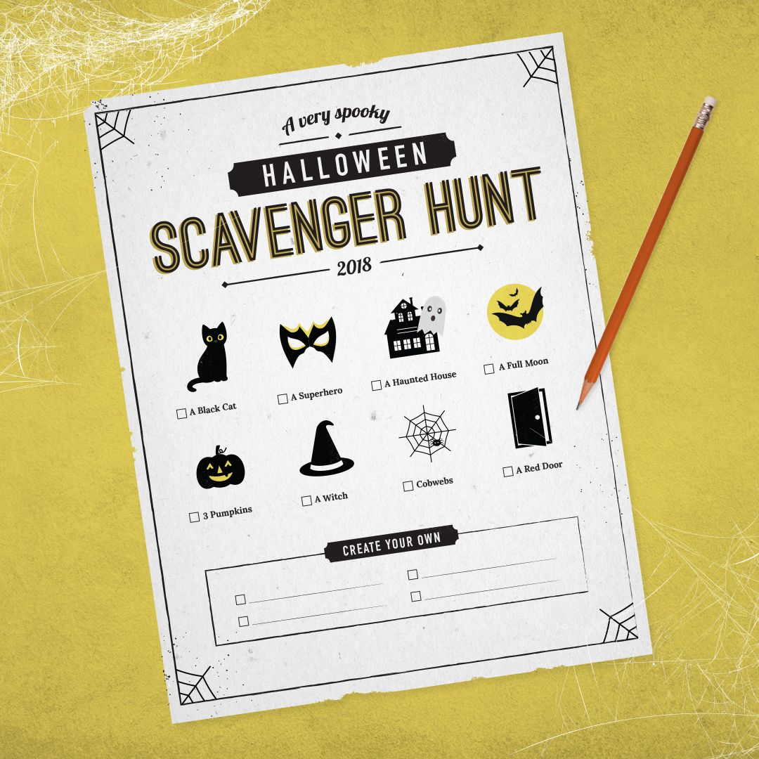 Trick, Treat or Hunt A Halloween Scavenger Hunt for Your
