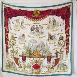 foulard carré hermès rare de collection, le doux, comédie italienne  -Foulard carré en 1f31766d1ed