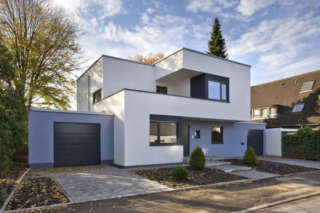 Fassadengestaltung einfamilienhaus weiß  11 coole Fassaden für jeden Geschmack | Holzrahmenbau, Moderne ...