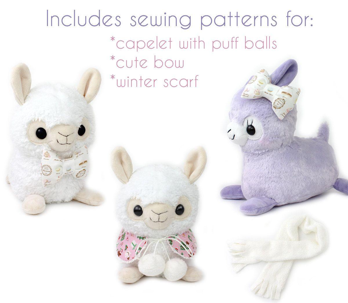 alpaca sewing pattern | PDF sewing pattern - Alpaca Llama stuffed ...