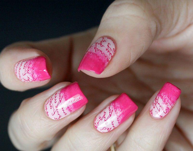 Two-colors Nail Design | Color nails, Nail polish art and Nail art ...