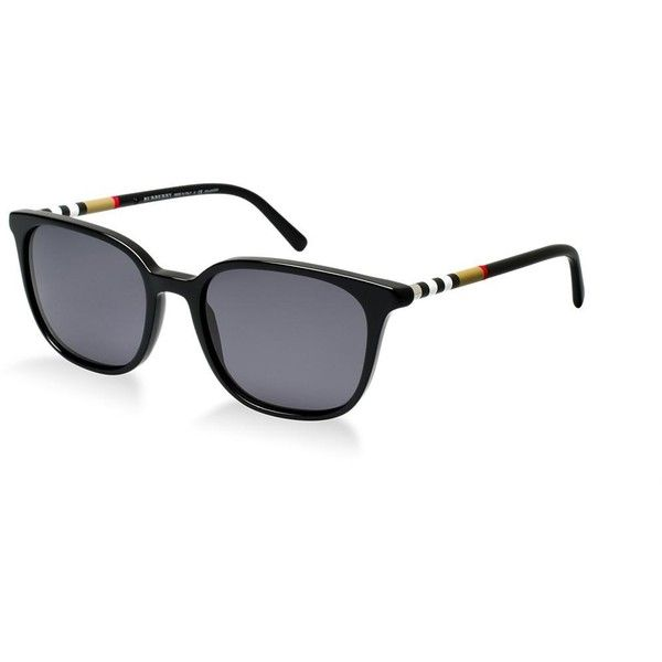 7fee814ced Burberry Be4144 Black Square Sunglasses featuring polyvore