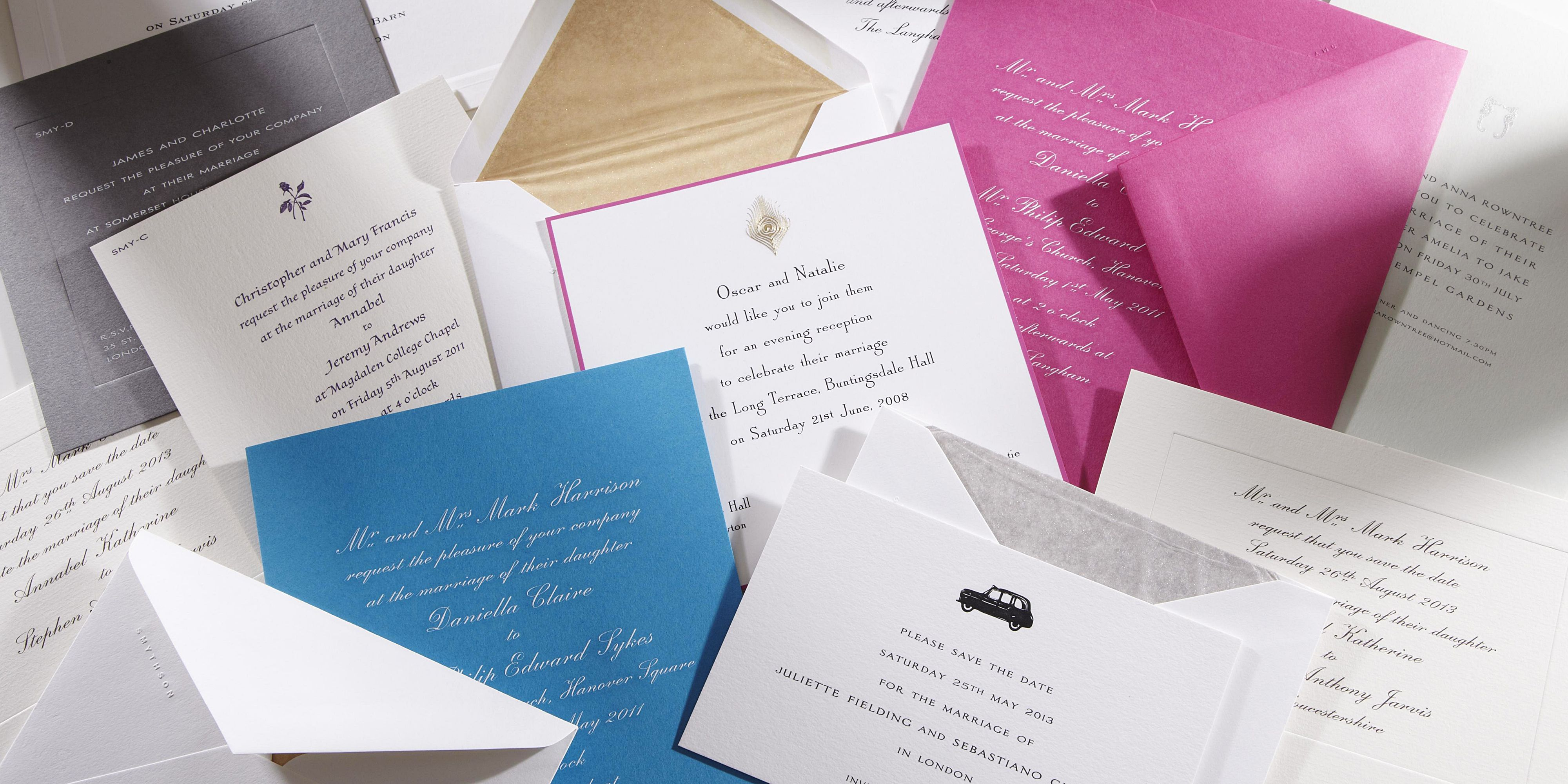 Smythson Wedding Invitation Ido