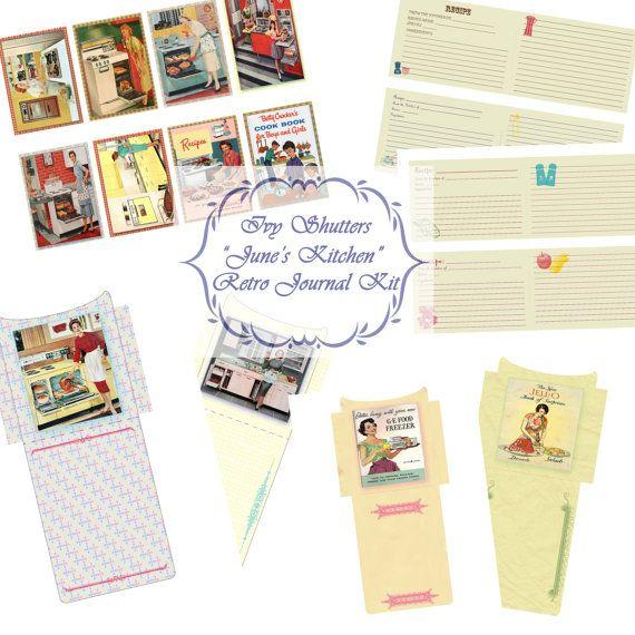 SALE June's Kitchen Retro Cooking Journal Kit
