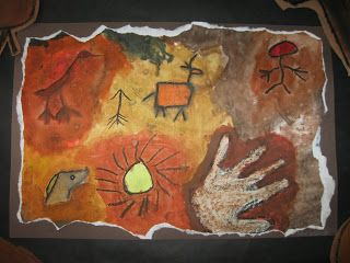 The Paper Pear 4th Grade Cave Paintings Cave Paintings