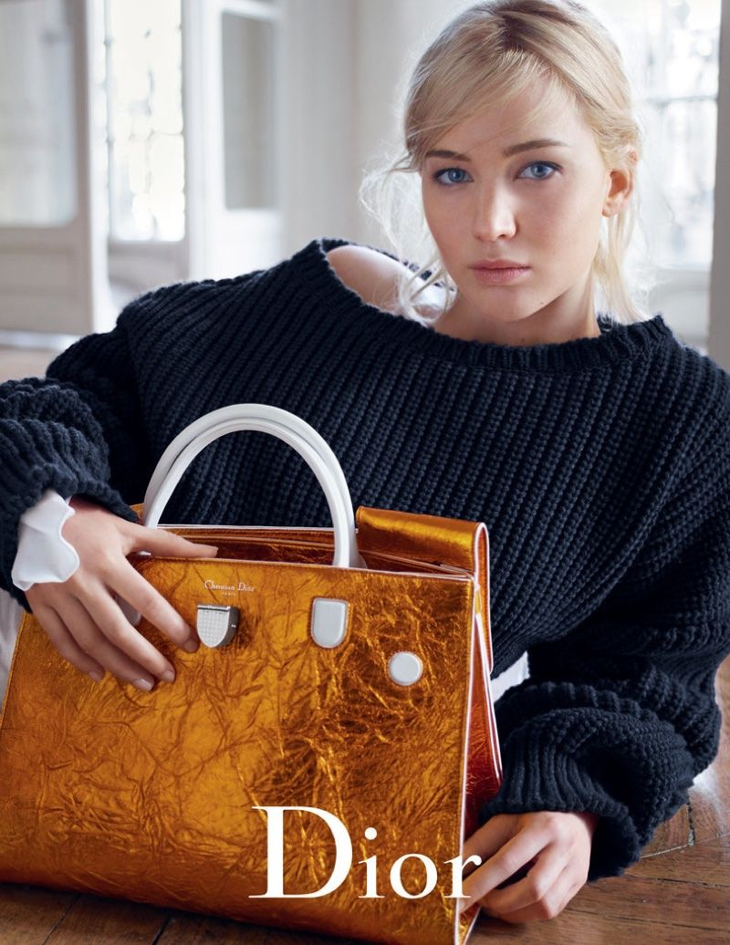 Jennifer Lawrence Looks Super Relaxed in Dior s Spring Handbag Ads ... 7969da6ba640d