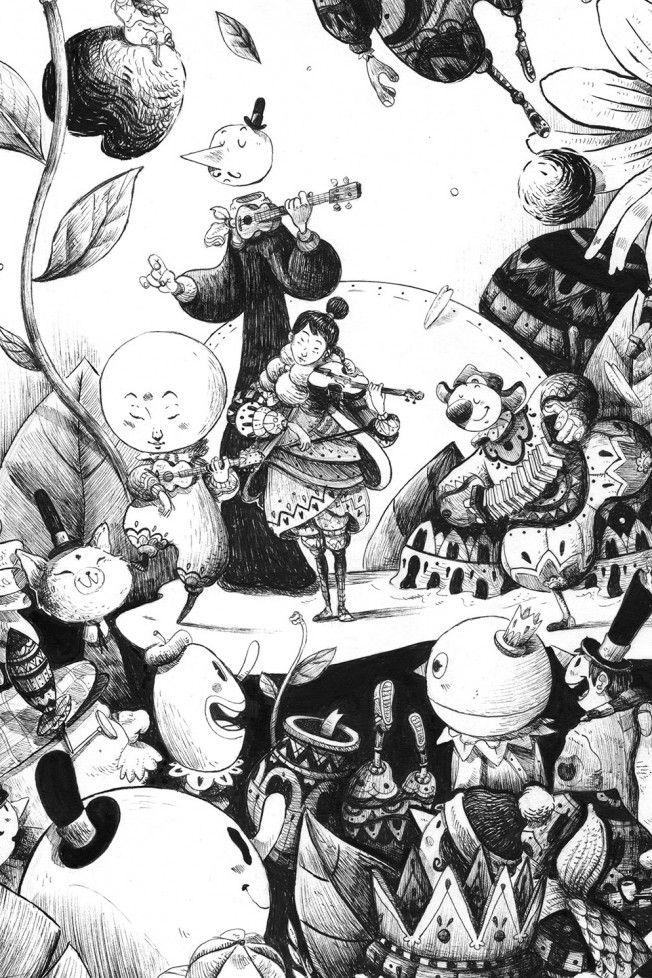 Guilherme Petreca Galho 03 Art Illustration Arte Com Tinta E