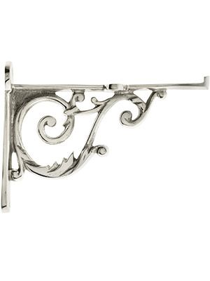 Small Brass Shelf Bracket In Polished Nickel