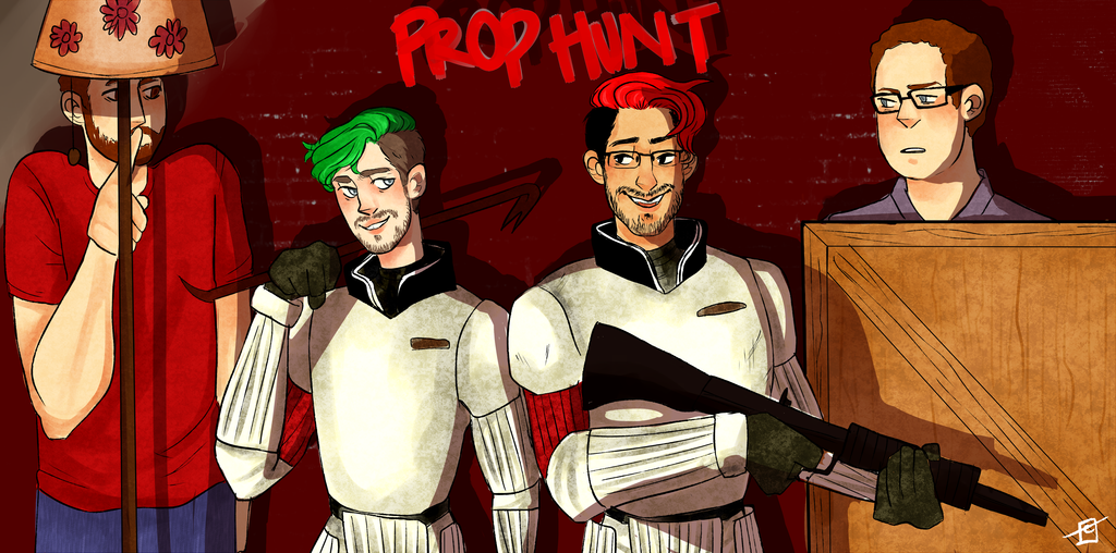 Prop Hunt W Mark Jack Bob And Wade By Cassbutts Markiplier Darkiplier Jacksepticeye
