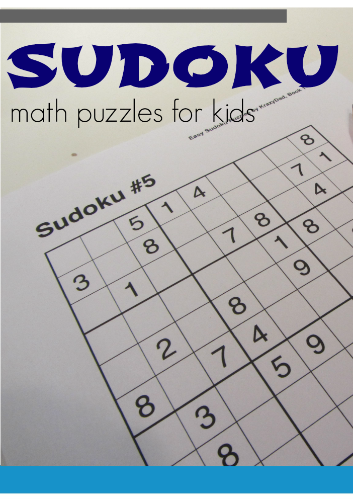 graphic regarding Krazydad Printable Sudoku identified as math, literacy, and resourceful summer months mastering: tabletop