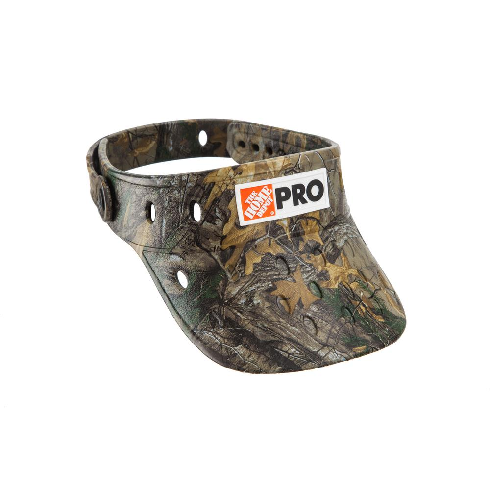 a8636c5b Home Depot Camo (Green) Visor One Size Fits All Super Lightweight  Camouflage Apparel Durable Hat Easy Clean with HD 3D Logo, Adult Unisex