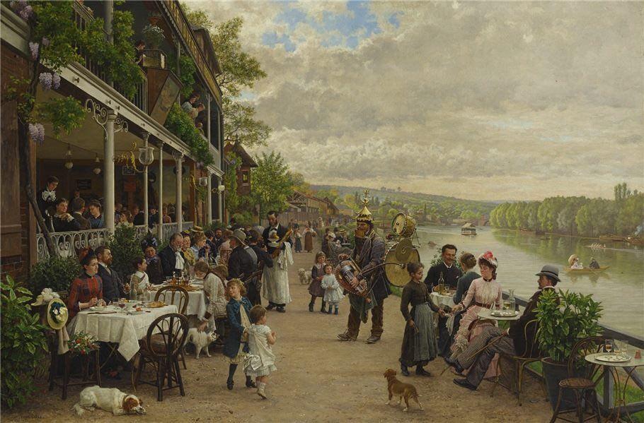 Le dimanche au Bas-Meudon - Marie-François Firmin-Girard (1838-1921)