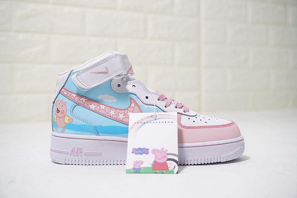 the best attitude 6ea21 b7daf NIKE AIR FORCE 1 MID 07 PINK PEPPA PIG 1077059 825 BLUE