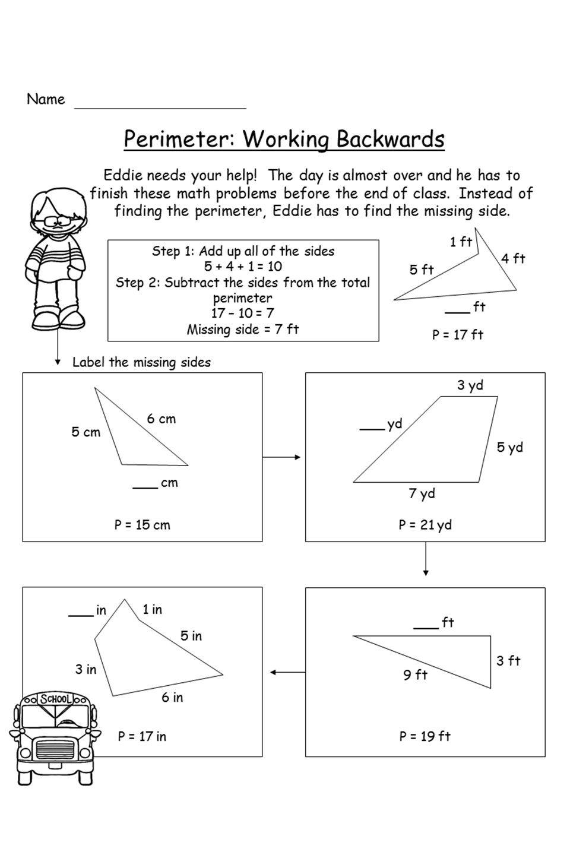 hight resolution of Perimeter Worksheet: Missing Side   Perimeter worksheets