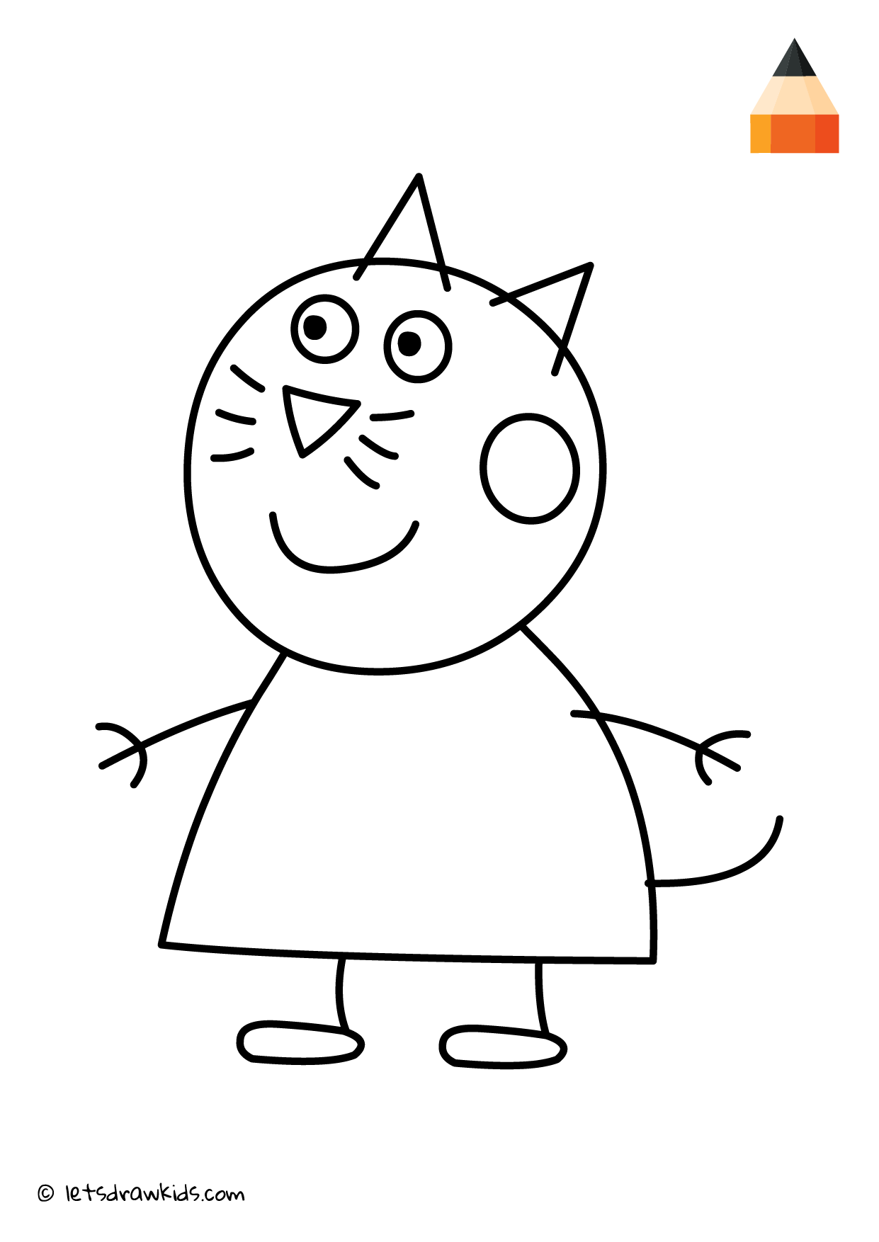 Coloring Page Peppa Pig Candy Cat Peppa Pig Coloring Pages Peppa Pig Colouring Kids Coloring Books