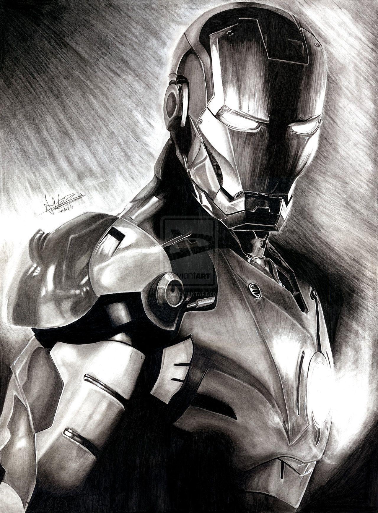 Iron Man By Anthony Woods On Deviantart Dibujos Pinterest