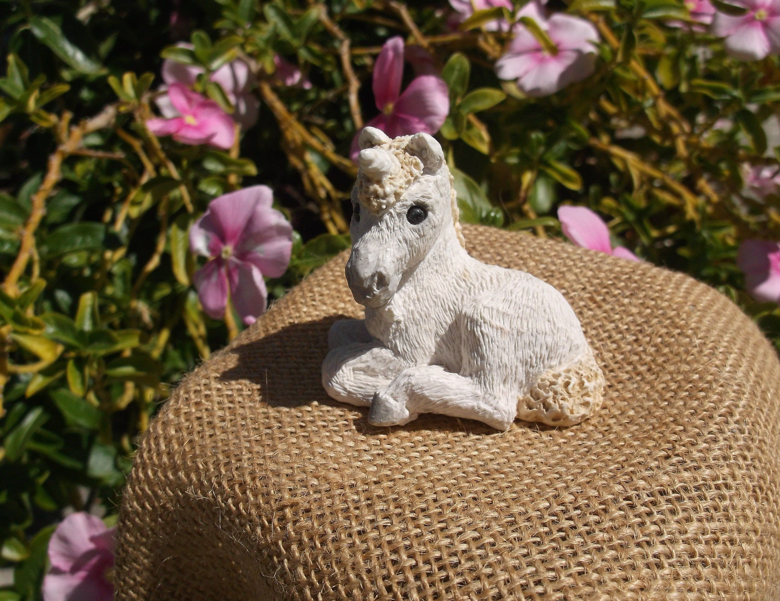 Vintage Stone Critter Littles Unicorn Figurine - Collectible Figurine Made in the USA #littleunicorn