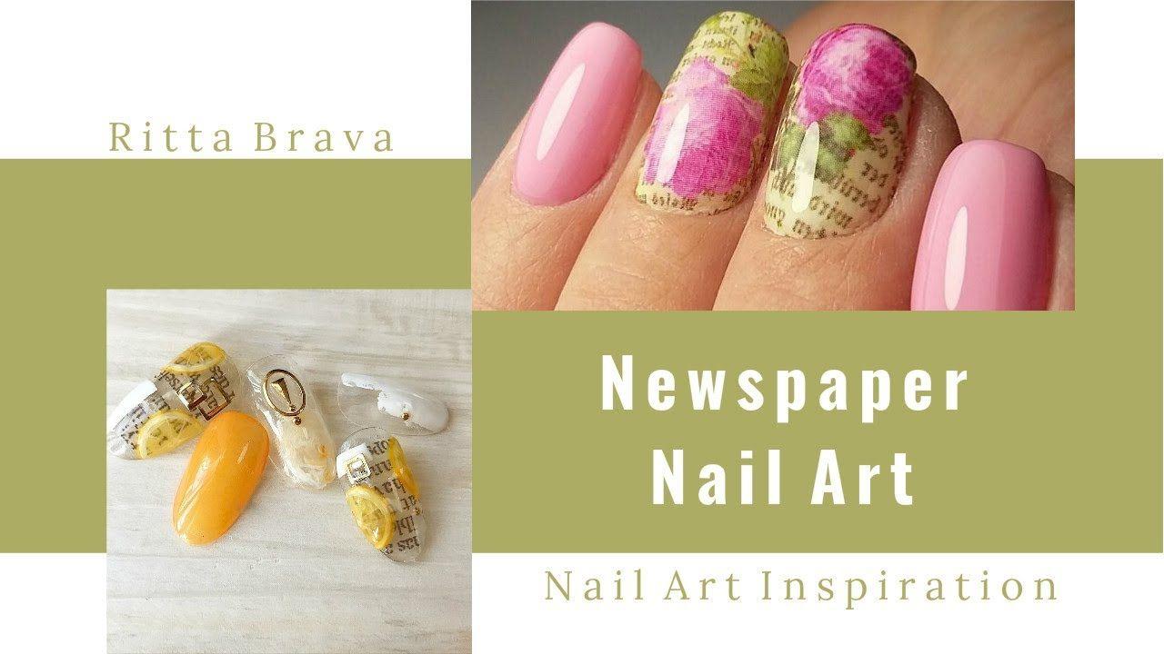 Newspaper Nail Art - Newspaper Print Nail Design #styled247 | Beauty ...