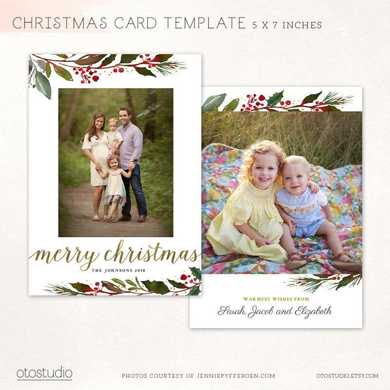 Christmas Card Template Merry Christmas Photo Card Etsy Holiday Card Template Merry Christmas Card Photo Christmas Card Template