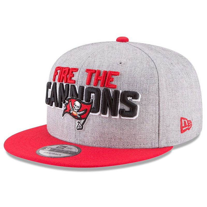 b7d8948b1b5 Tampa Bay Buccaneers New Era 2018 NFL Draft Official On-Stage 9FIFTY  Snapback Adjustable Hat – Heather Gray Red