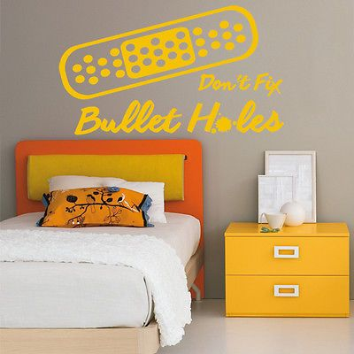 'band aids #don't fix bullet holes' - bad #blood #quote wall sticker / song / lyr,  View more on the LINK: 	http://www.zeppy.io/product/gb/2/171812794146/