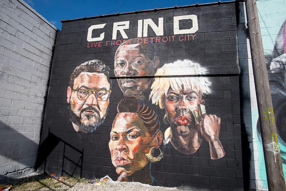 By sydney g james detroit michigan street mural