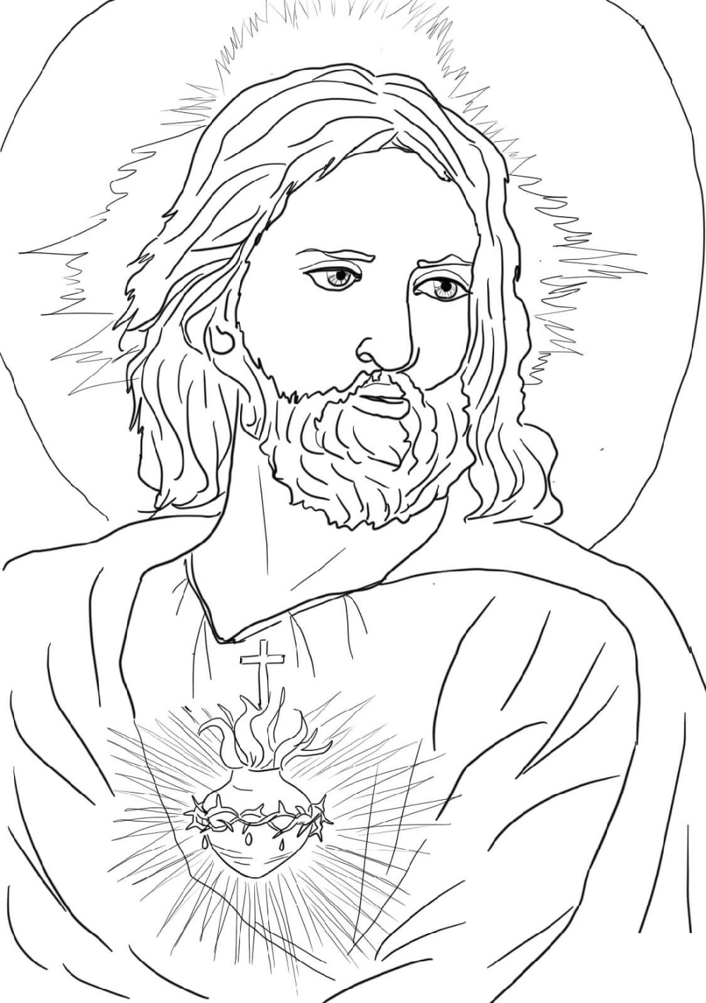 Jesus Coloring Pages Printable Jesus Coloring Pages Jesus Pictures Heart Coloring Pages