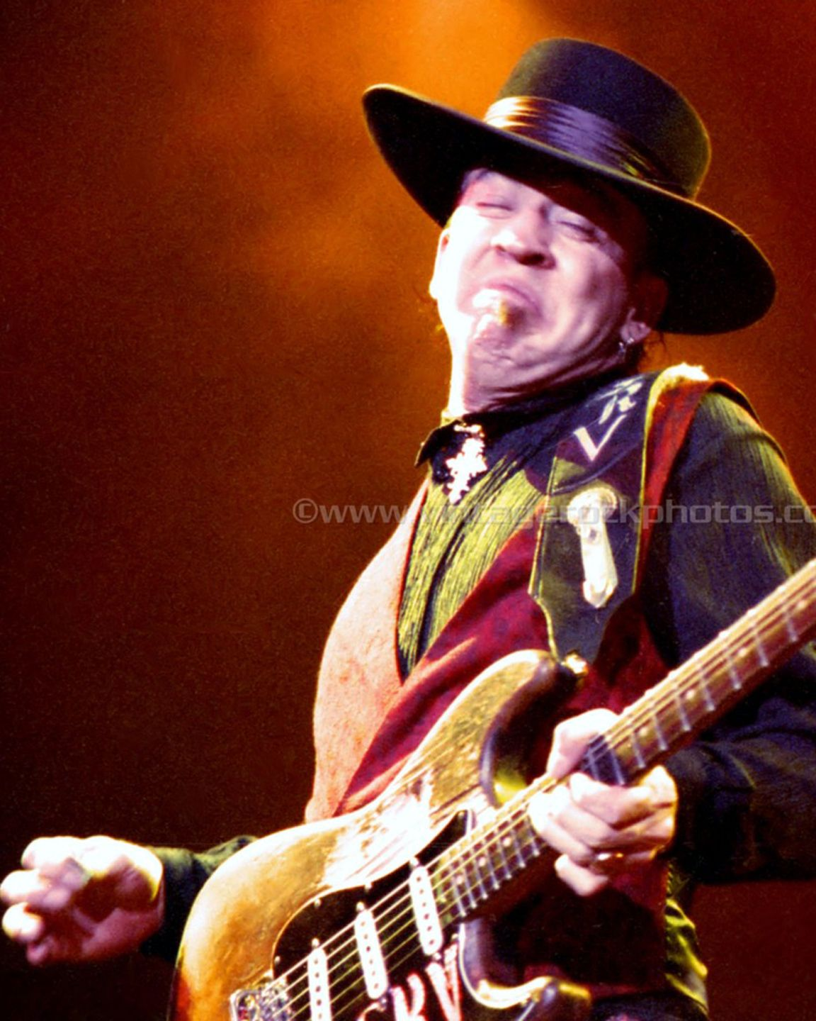 Photo of the King of all Blues artists, Stevie Ray Vaughn