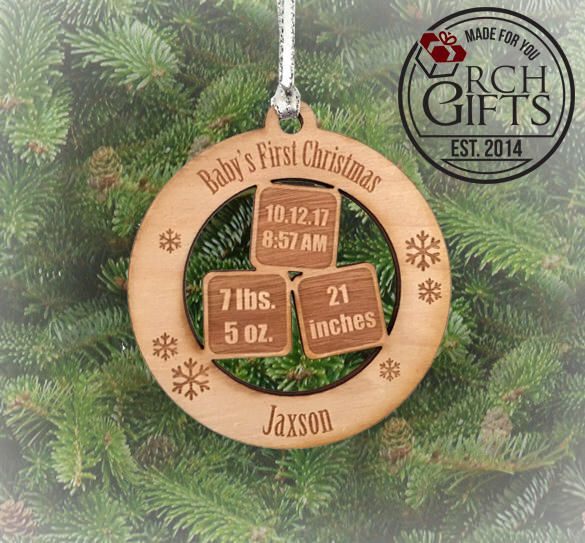 Personalized Christmas Ornament, Baby\u0027s First Christmas ornament