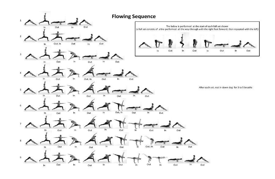 Flowing Sequence Vinyasa Yoga Sequence Yoga Sequences Vinyasa Yoga