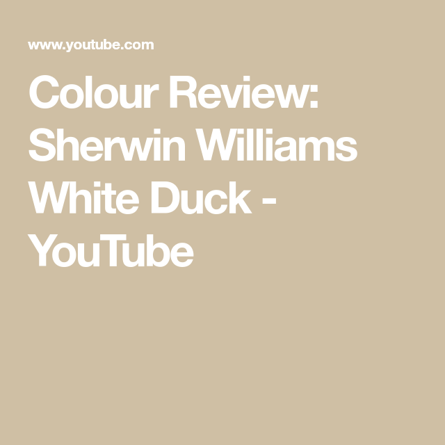 Colour Review: Sherwin Williams White Duck