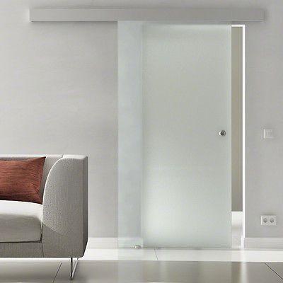 Glasschiebetür Satin 900x2050mm Glas Schiebetür Glastür satiniert ...