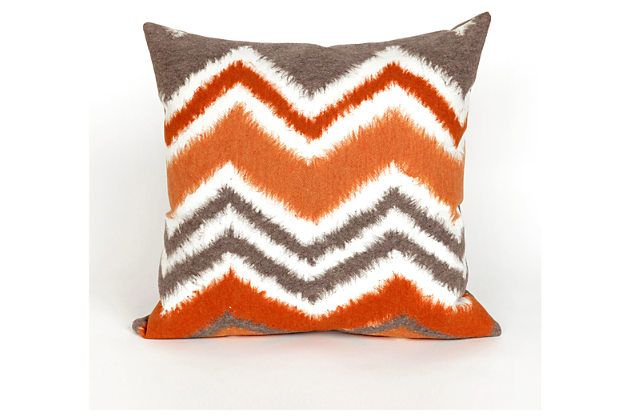 orange home accents indoor-outdoor pillowashley homestore