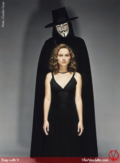 V For Vendetta Photo Evey And V V For Vendetta V For Vendetta Costume Vendetta Film