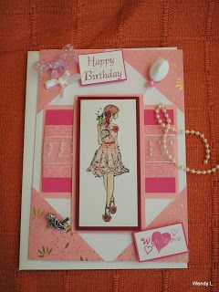 Spanish crafter: Lady in Pink