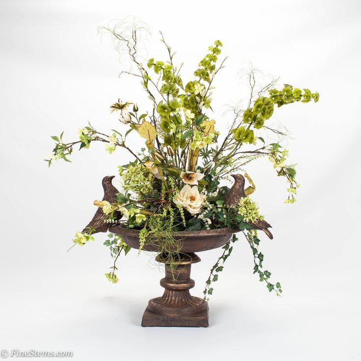 Bird Bath Silk Fl Arrangement Traditional Artificial Flowers Very Ornamental And I Love It
